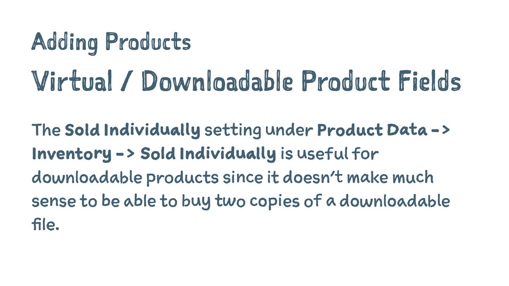 Adding Products Virtual / Downloadable Product ...