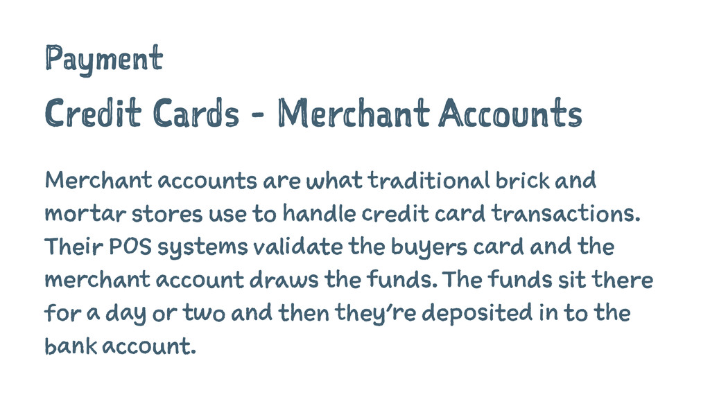 Payment Credit Cards - Merchant Accounts Mercha...