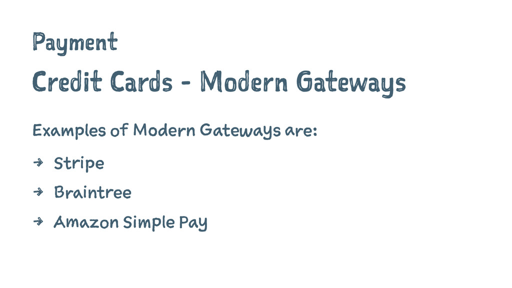 Payment Credit Cards - Modern Gateways Examples...