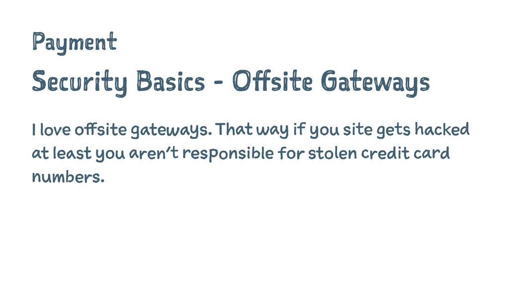 Payment Security Basics - Offsite Gateways I lo...