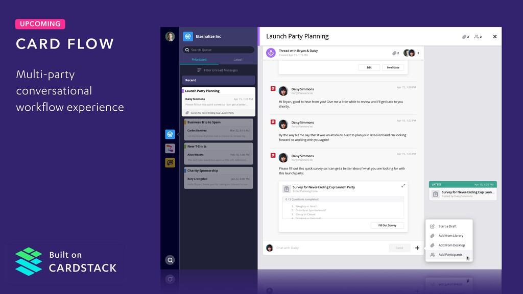 UPCOMING Multi-party conversational workflow ex...