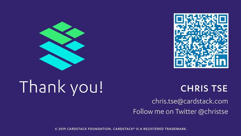 CHRIS TSE chris.tse@cardstack.com Thank you! Fo...
