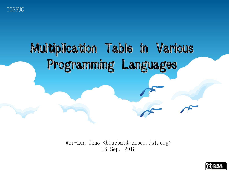 Wei-Lun Chao <bluebat@member.fsf.org> 18 Sep. 2...
