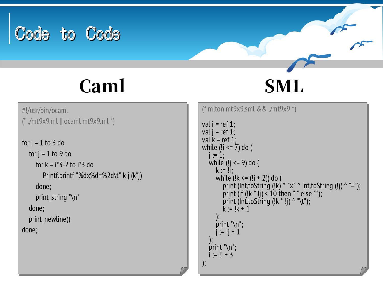 Code to Code Code to Code #!/usr/bin/logo ; ./m...