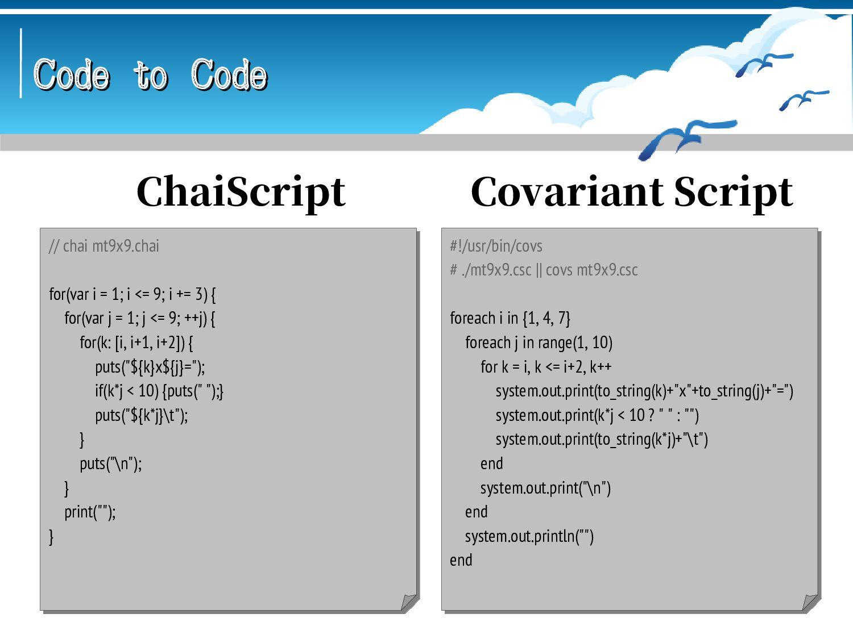 Code to Code Code to Code #!/usr/bin/bash # ./m...