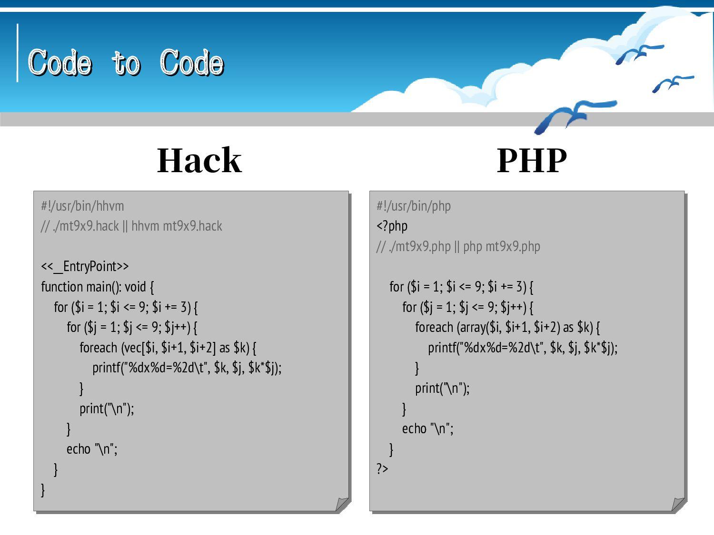 Code to Code Code to Code #!/usr/bin/scsh -s !#...