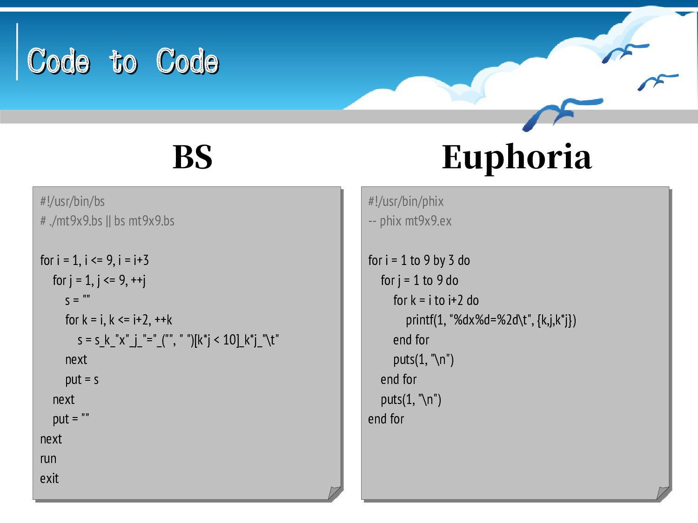 Code to Code Code to Code -- sacomp mt9x9.sa -o...