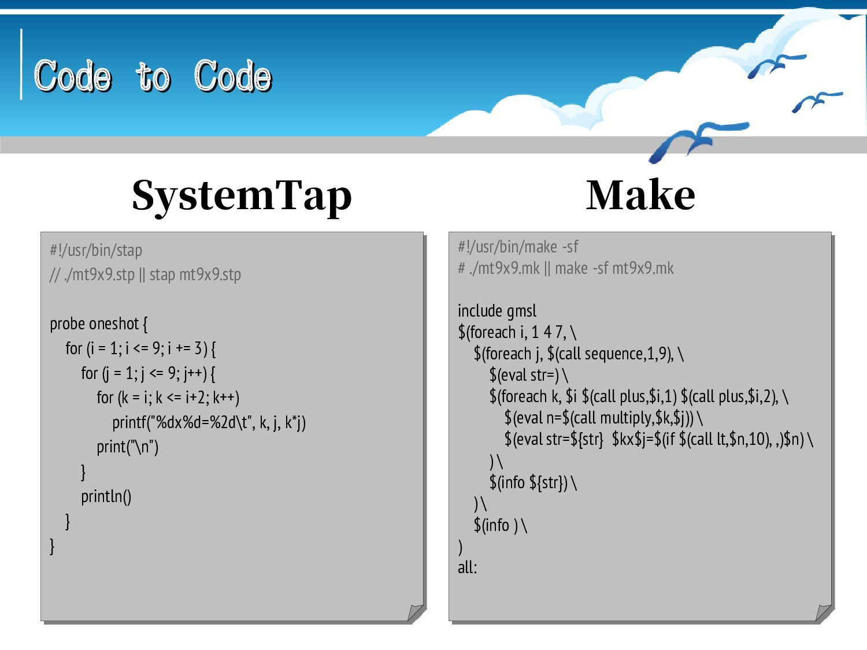 Code to Code Code to Code % erlc mt9x9.erl && e...