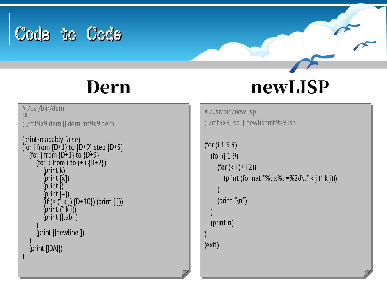 Code to Code Code to Code #!/usr/bin/ijconsole ...