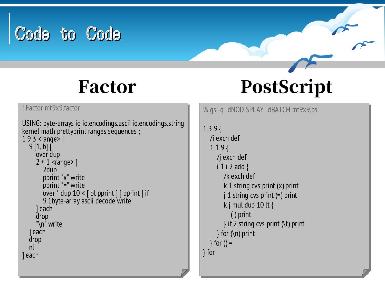 Code to Code Code to Code #!/usr/bin/python3 # ...