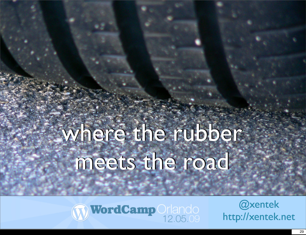 where the rubber meets the road where the rubbe...