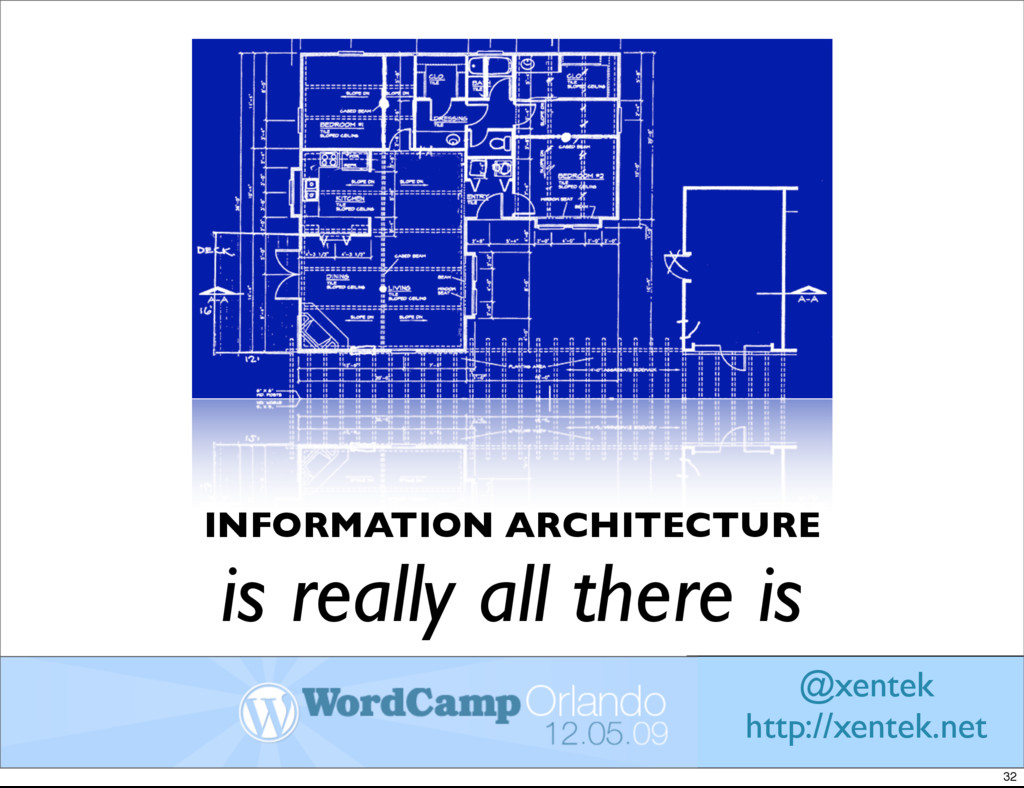 INFORMATION ARCHITECTURE is really all there is...
