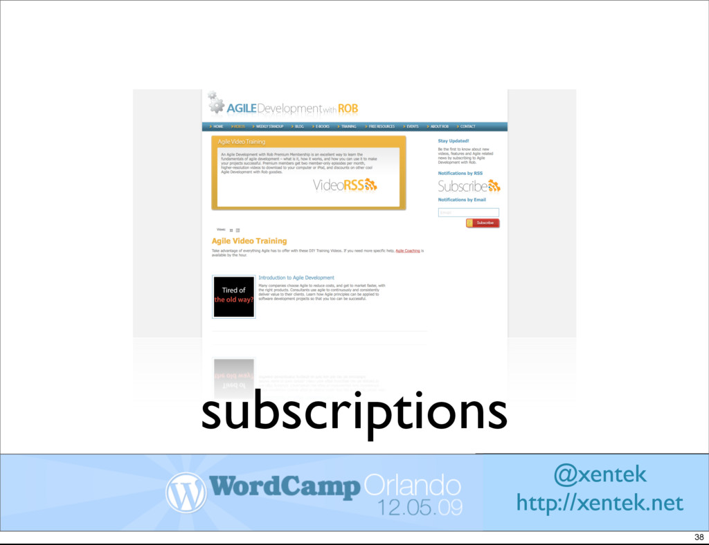 subscriptions @xentek http://xentek.net 38