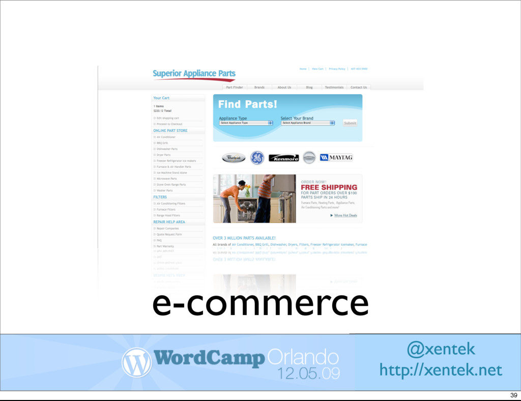 e-commerce @xentek http://xentek.net 39