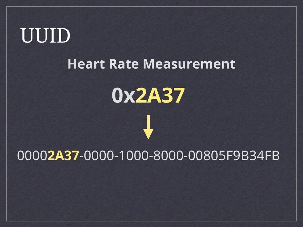 UUID 00002A37-0000-1000-8000-00805F9B34FB 0x2A3...