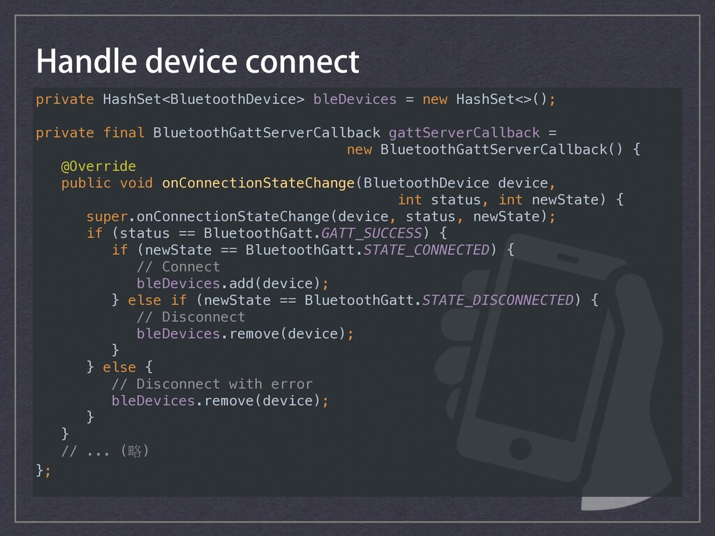 private HashSet<BluetoothDevice> bleDevices = n...
