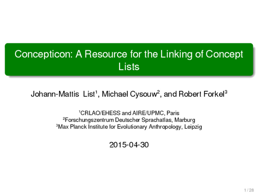Concepticon: A Resource for the Linking of Conc...