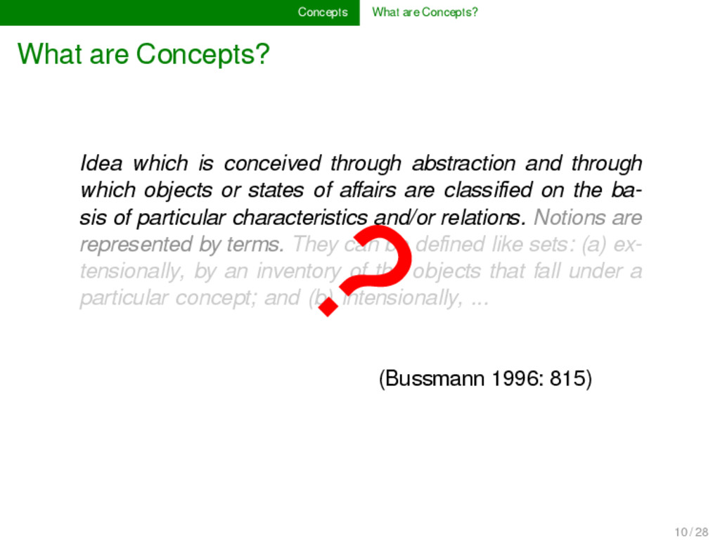 Concepts What are Concepts? What are Concepts? ...