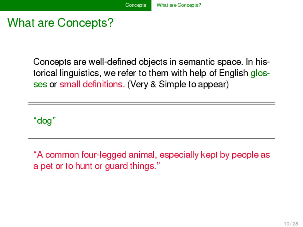 Concepts What are Concepts? What are Concepts? ...