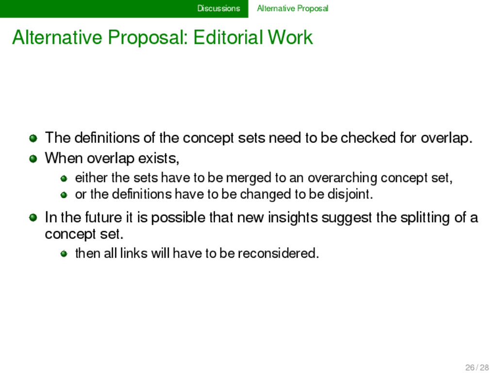 Discussions Alternative Proposal Alternative Pr...