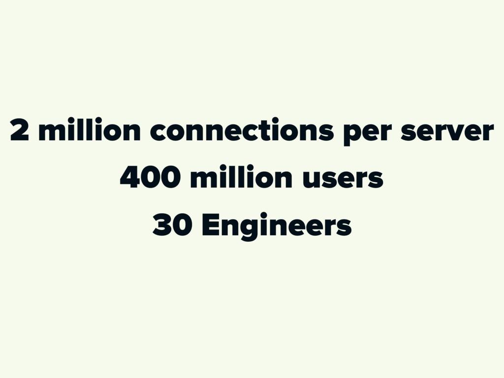 2 million connections per server 400 million us...
