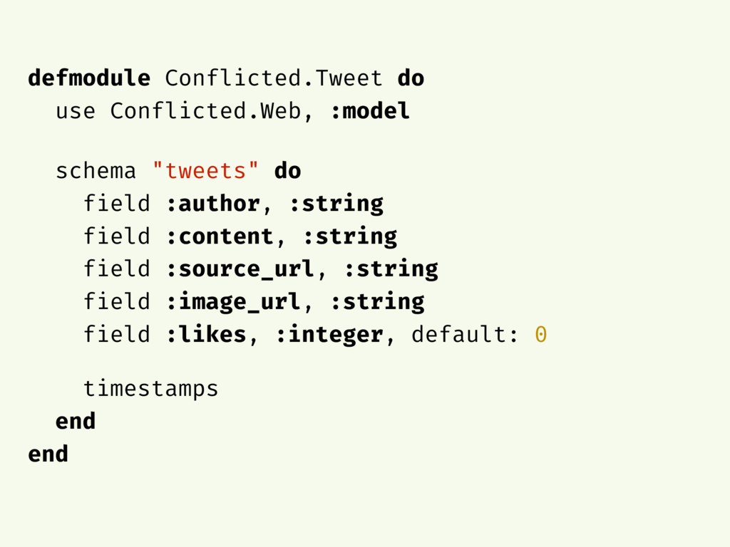 defmodule Conflicted.Tweet do use Conflicted.We...