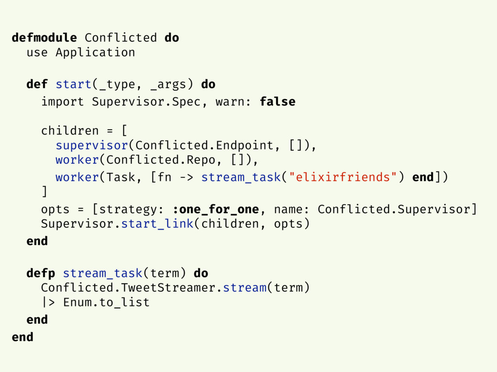 defmodule Conflicted do use Application def sta...