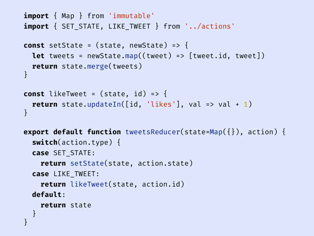 import { Map } from 'immutable' import { SET_ST...