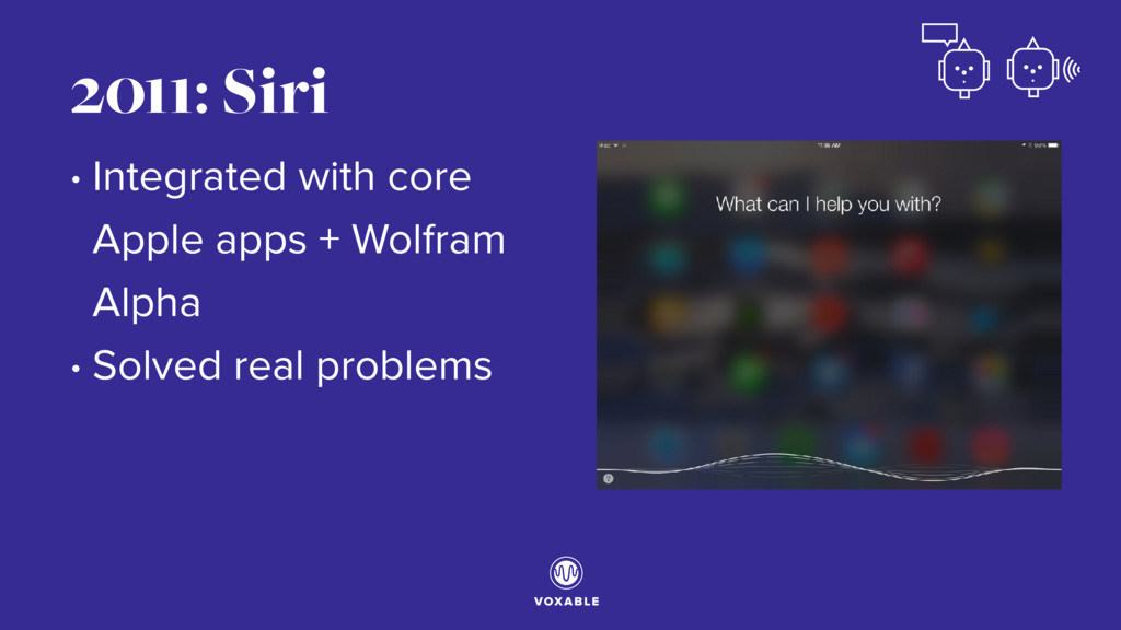 • Integrated with core Apple apps + Wolfram Alp...