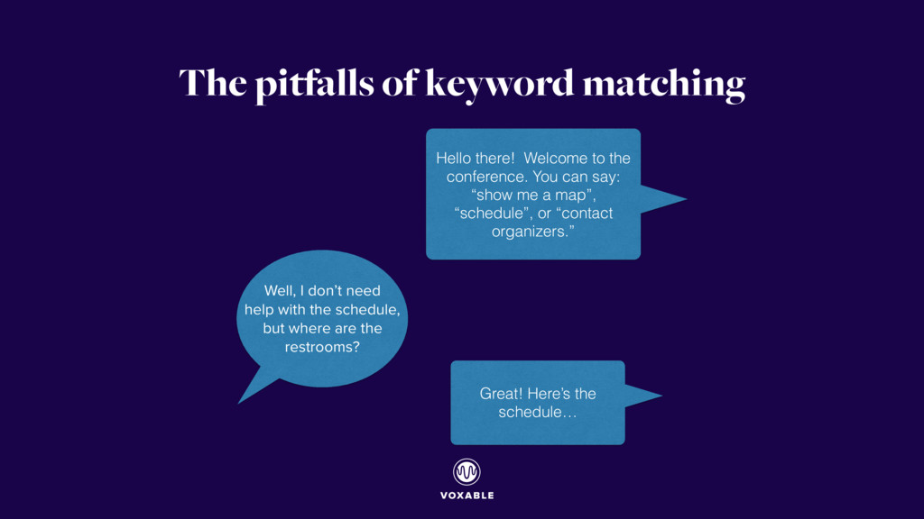 The pitfalls of keyword matching Well, I don't ...