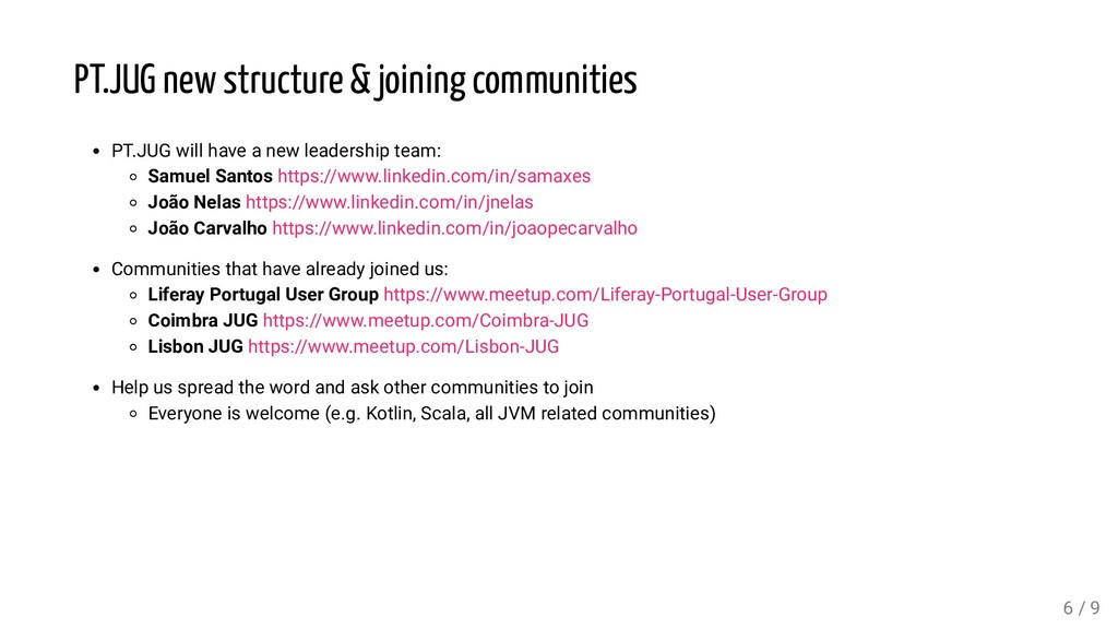 PT.JUG new structure & joining communities PT.J...