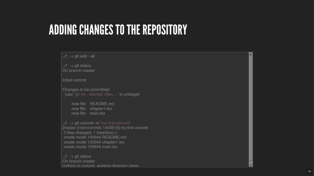 ADDING CHANGES TO THE REPOSITORY 14