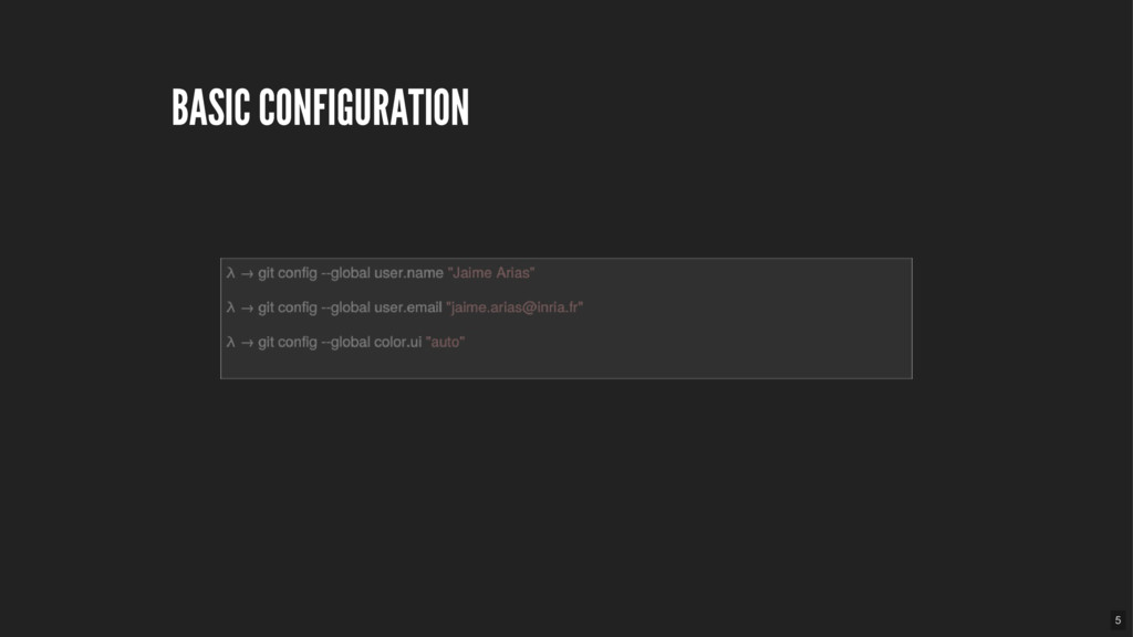 BASIC CONFIGURATION 5
