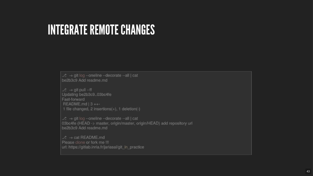 INTEGRATE REMOTE CHANGES 43
