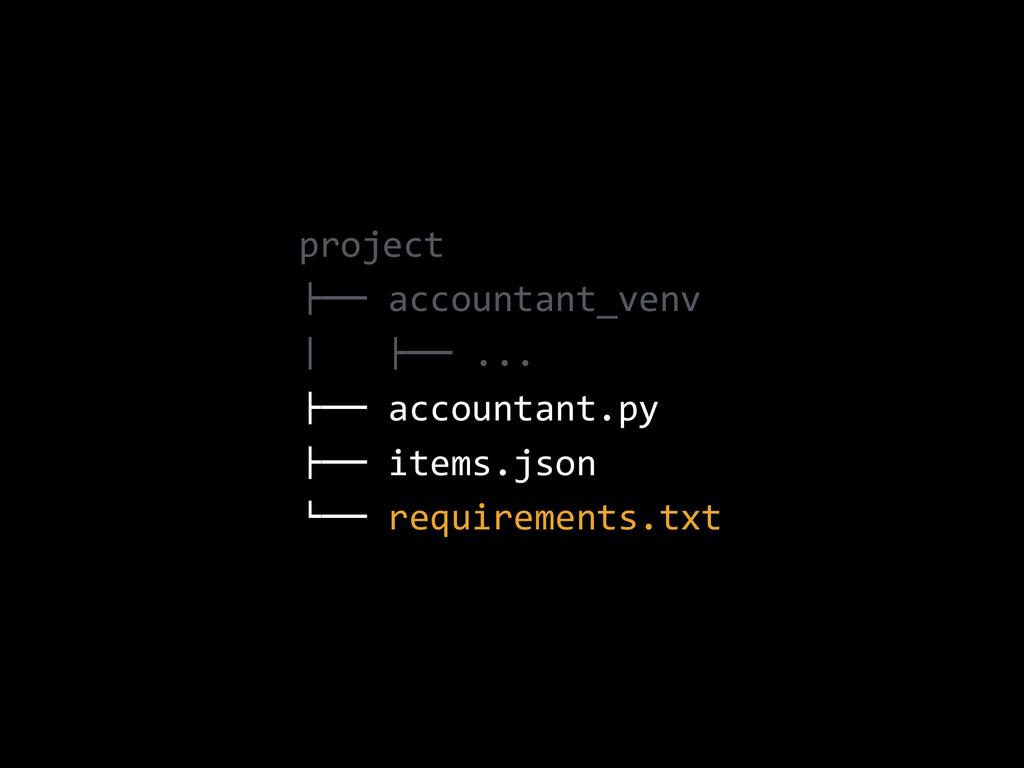 "project  !"""" accountant_venv  #   !"""" ....."