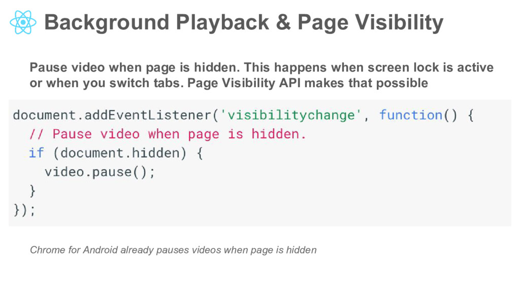 Background Playback & Page Visibility Pause vid...