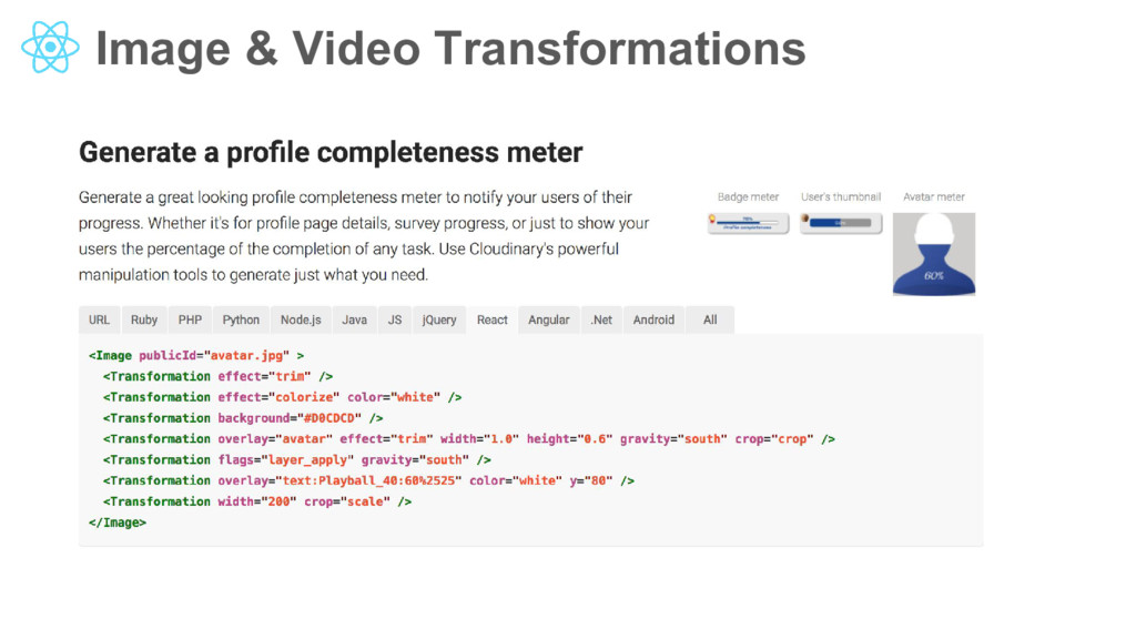 Image & Video Transformations