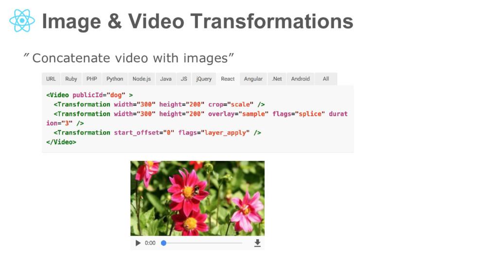 "Image & Video Transformations "" Concatenate vid..."