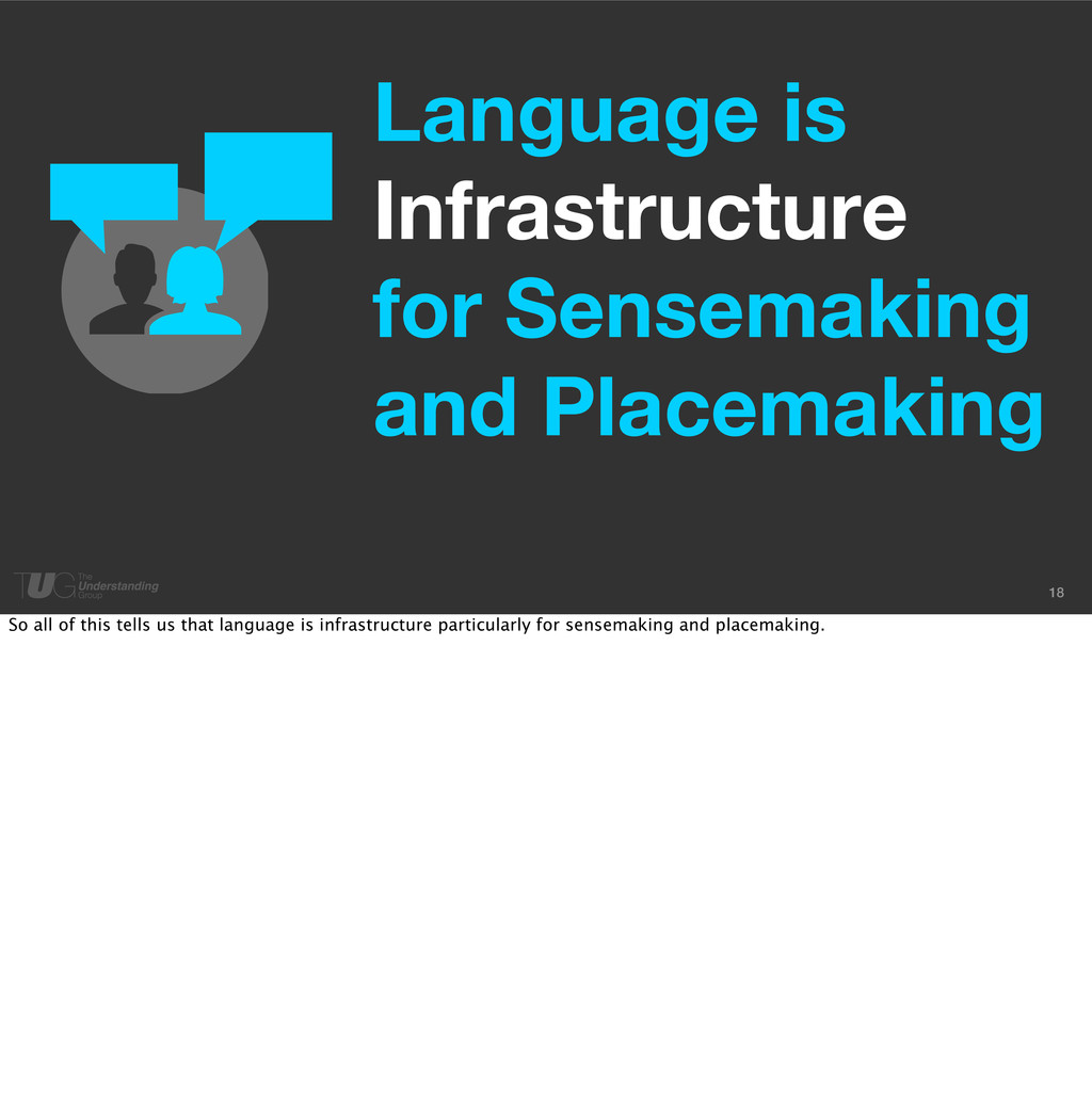18 Language is Infrastructure for Sensemaking a...