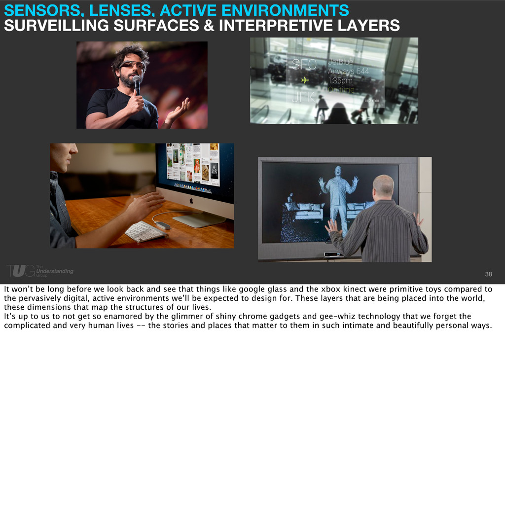 SENSORS, LENSES, ACTIVE ENVIRONMENTS SURVEILLIN...