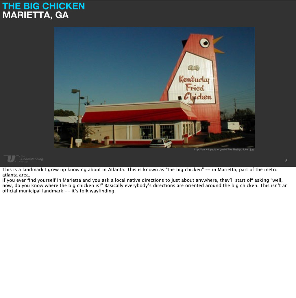 THE BIG CHICKEN MARIETTA, GA 5 http://en.wikipe...