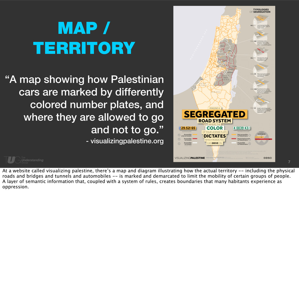 "7 ""A map showing how Palestinian cars are marke..."