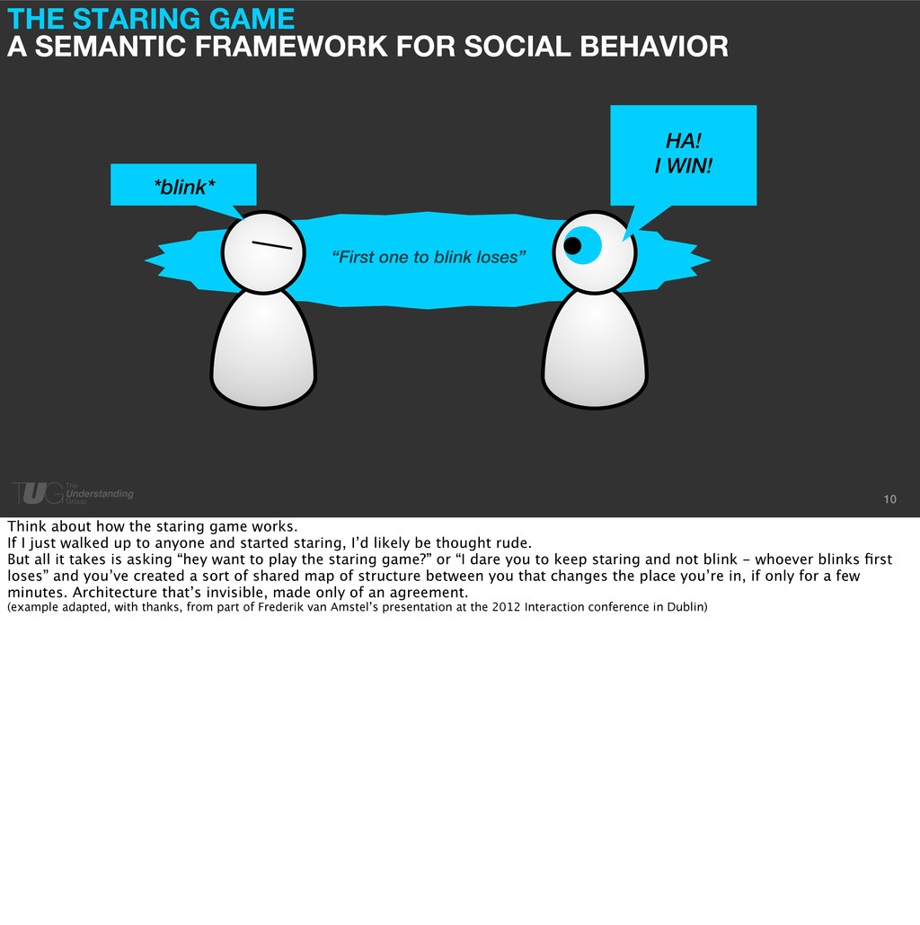 THE STARING GAME A SEMANTIC FRAMEWORK FOR SOCIA...