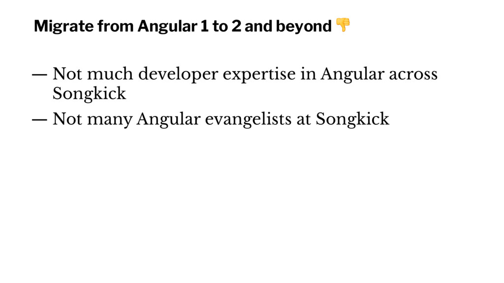 Migrate from Angular 1 to 2 and beyond ! — Not ...