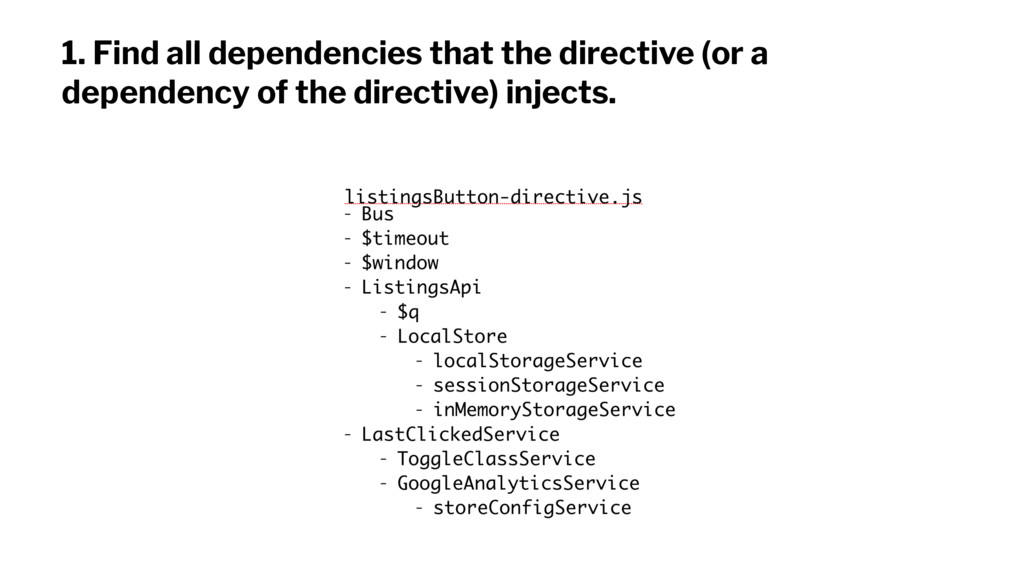 1. Find all dependencies that the directive (or...