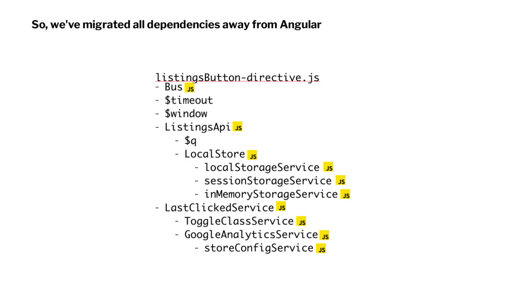 So, we've migrated all dependencies away from A...