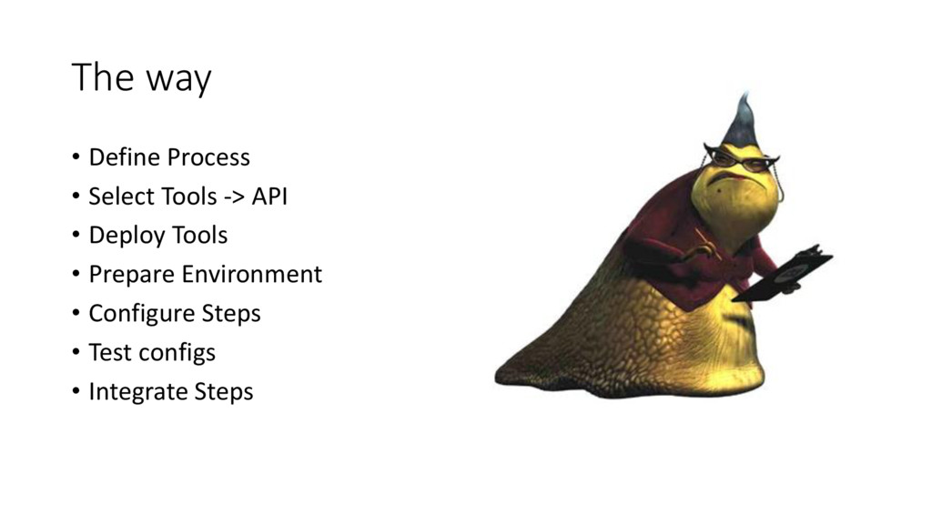 The way • Define Process • Select Tools -> API ...
