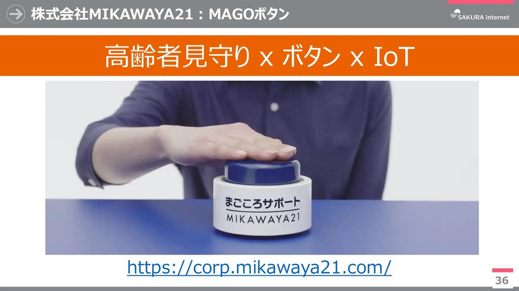 36 高齢者見守り x ボタン x IoT 株式会社MIKAWAYA21:MAGOボタン ht...