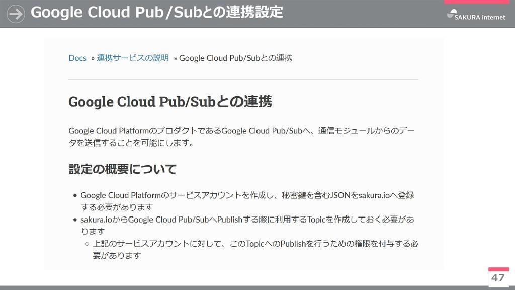 Google Cloud Pub/Subとの連携設定 47