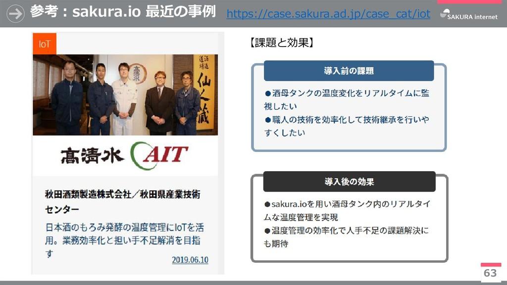 参考:sakura.io 最近の事例 63 https://case.sakura.ad.jp...